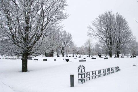Corporation du cimetière Mont-Marie - Bienville-hiver